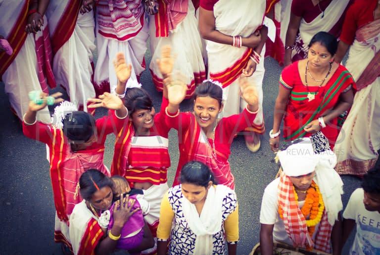 Women folk at Sarhul